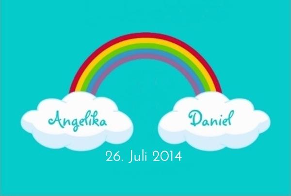 Logo Angelika & Daniel Hochzeit
