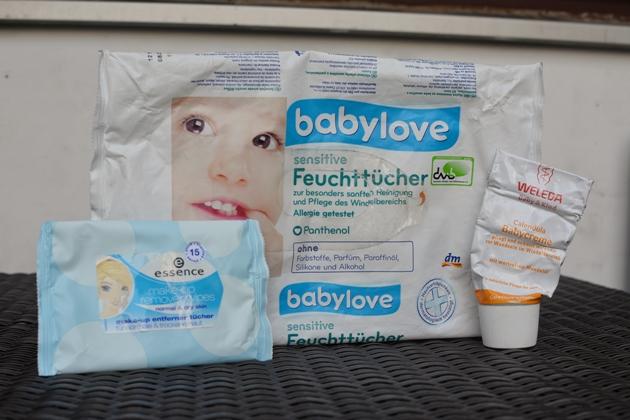 Weleda Calendula Babycreme babylove sensitive Feuchttücher essence makeup Entfernertücher
