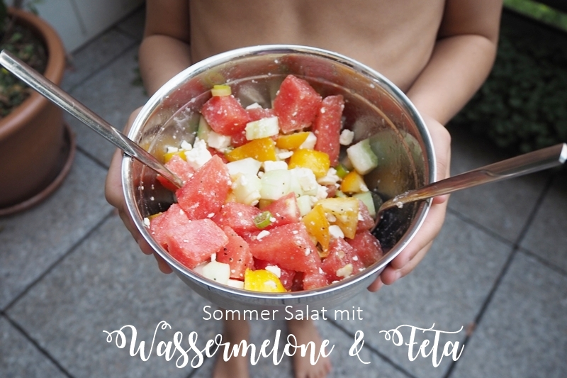 sommer salat mit wassermelone und feta missxoxolat 39 s schokoladenseiten. Black Bedroom Furniture Sets. Home Design Ideas
